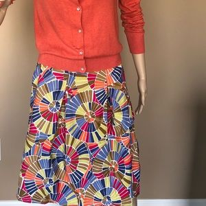 Talbots mosaic print full skirt